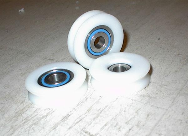 Nylonhjul med kuglelejer